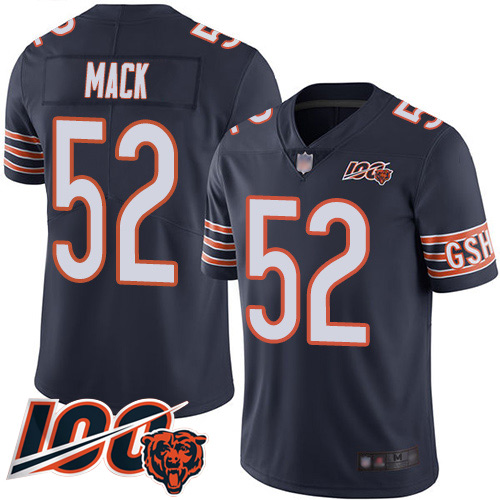 wholesale jerseys near me Youth Bears #52 Khalil Mack Navy Blue ...